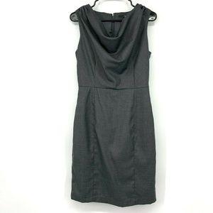 H&M Gray Cowl Neck Sleeveless Sheath Dress